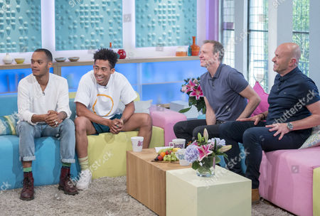 Rizzle Kicks - Harley Alexander-Sule and Jordan Stephens with Tim Lovejoy and Simon Rimmer