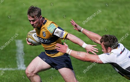Stock Picture of Johnny Lewis of Cardiff Blues scores a try.