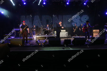 """Madness - Michael """"Mike"""" """"Monsieur Barso"""" Barson, Lee Jay Thompson, Daniel """"Dan"""" Mark Woodgate (also known as Woody Woodgate), Graham '"""" Suggs """" McPherson, and Mark William Bedford (also known as Bedders)"""