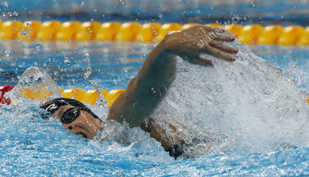 Denmark's Lotte Friis competes in a heat of the women's 400-meter freestyle during the swimming competitions at the 2016 Summer Olympics, in Rio de Janeiro, Brazil