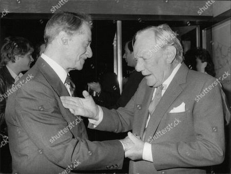 Don Ameche And Trevor Howard At The Premiere Of Film 'cocoon'. Box 683 1004051620 A.jpg.