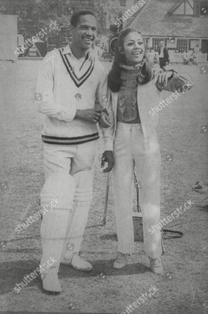 Esther Anderson Jamaican Actress With Test Cricketer Gary Sobers. Box 687 72505161 A.jpg.
