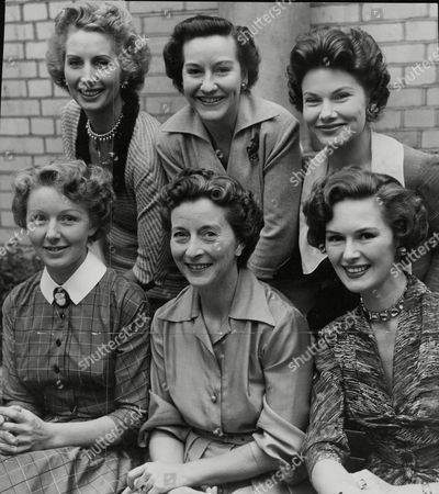 Editorial photo of Six Finalists In The Search For An Abc Tv Hostess For A Weekend Television Programme. Back Row L-r: Patricia Laffan Beryl Mason Daphne Anderson. Front Row L-r: Sylvia Marriott Avice Landone And Audrey White. (for Full Caption See Version) Box 687 825