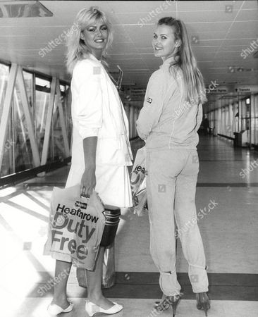 Glamour Model Janine Andrews And Beauty Queen Carolyn Seaward Leaving For Bombay Where They Are Filming Bond Film 'octopussy'. Box 688 726051638 A.jpg.