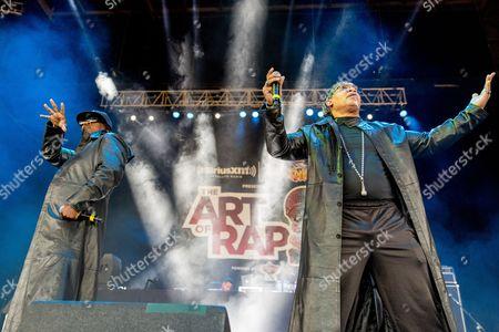 Furious Five - Eddie Morris (Mr. Ness / Scorpio) and Melvin Glover (Melle Mel)