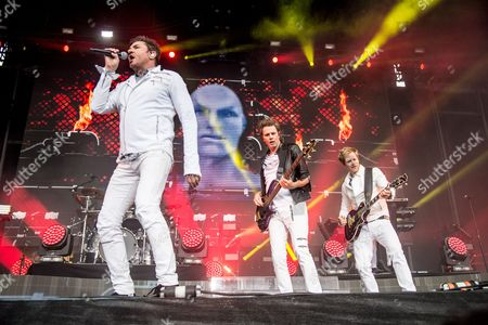 Duran Duran - John Taylor, Simon Le Bon, and Dom Brown