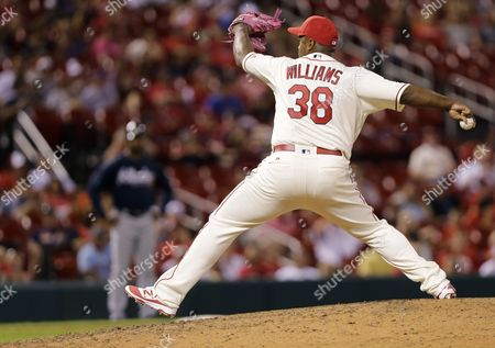 Jerome Williams St. Louis Cardinals relief pitcher Jerome Williams (38) pitches in a baseball game against the Atlanta Braves, in St. Louis