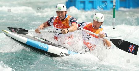 David Florence and Richard Hounslow of Team GB in action in Heat One of the Men's Canoe Double Slalom during day three of the Rio Olympics 2016 on the 8th August 2016