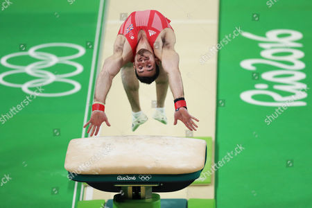 Great Britain s Kristian Thomas performs on the vault during the artistic gymnastics men's teams final at the 2016 Summer Olympics in Rio de Janeiro, Brazil, Sunday, Aug. 8, 2016. (Photo: Daniel Ramalho/AGIF)