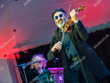 Editorial image of The Waterboys in concert at The Kelvingrove Bandstand, Glasgow, Scotland, UK - 08 Aug 2016