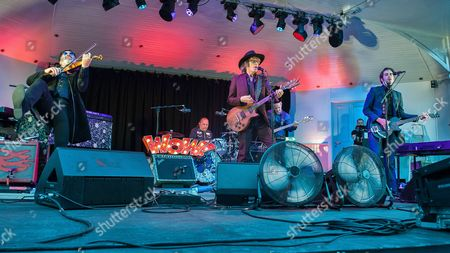 Stock Picture of The Waterboys - Mike Scott, Steve Wickham, Ralph Salmins, Dave Hood, Zach Ernst