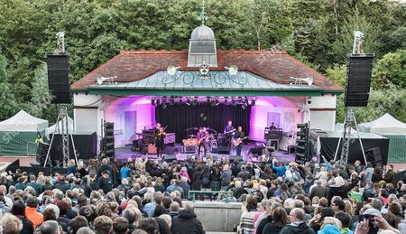 Editorial photo of The Waterboys in concert at The Kelvingrove Bandstand, Glasgow, Scotland, UK - 08 Aug 2016