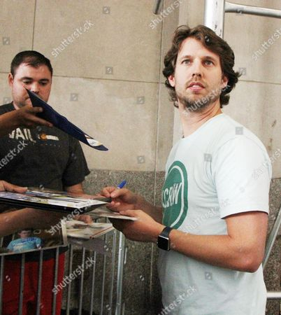 Editorial picture of Jon Heder out and about, New York, USA - 08 Aug 2016