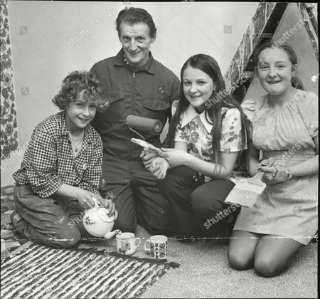 Editorial image of Johnnie Savile Disc Jockey Jimmy Savile's Elder Brother With His Two Children Johnnie 11 Kim (right) 14 And A Young Friend Rosemary Penfold 15. (for Full Caption See Version) Box 687 1125051623 A.jpg.