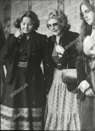 Editorial picture of Anne Browning 1st Wife Of Actor Alan Browning With Her Daughter Ann Browning At Alan's Funeral. Box 689 901061622 A.jpg.