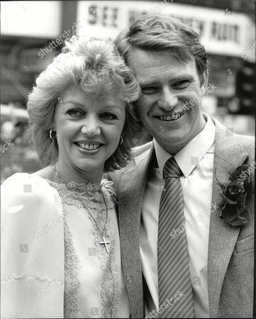 Wedding Of Actress Carol Hawkins To Martin Padbury At Marylebone Registry Office. Box 689 80106167 A.jpg.