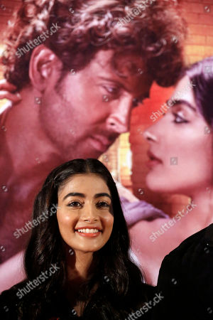 Pooja Hegde Bollywood actress Pooja Hegde poses for photographs during a promotional event for her upcoming movie, Mohenjo Daro, in Ahmadabad, India, . The movie will be released on Aug. 12, 2016