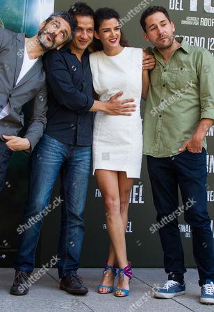 Stock Image of Argentinian actor Leonardo Sbaraglia ; Rodrigo Grande; Clara Lago ; Javier Godino