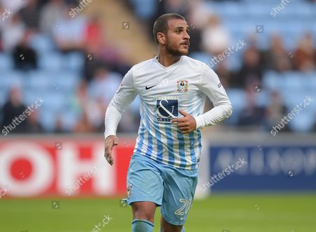 Marcus Tudgay of Coventry City during the EFL Cup First Round match between Coventry City and  Portsmouth played at the Ricoh Arena, Coventry on 9th August 2016