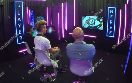 Stock Picture of Ricky Norwood, Frankie Grande and James Whale - Task: Test of Nerves