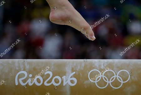 Netherlands' Lieke Wevers performs on the balance beam during the artistic gymnastics women's team final at the 2016 Summer Olympics in Rio de Janeiro, Brazil