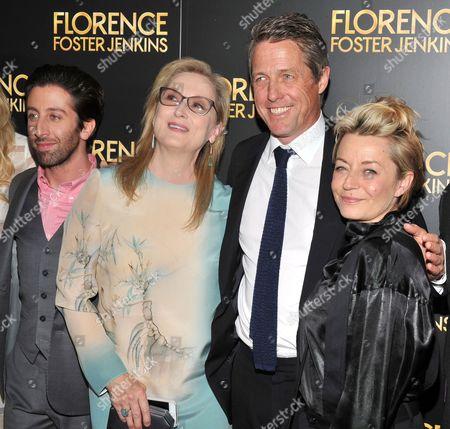 Simon Helberg, Meryl Streep, Hugh Grant, Tracey Seaward