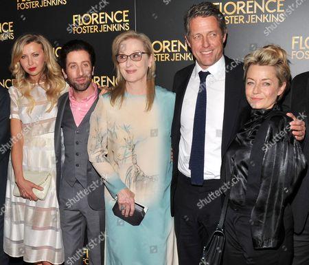 Nina Arianda, Simon Helberg, Meryl Streep, Hugh Grant, Tracey Seaward
