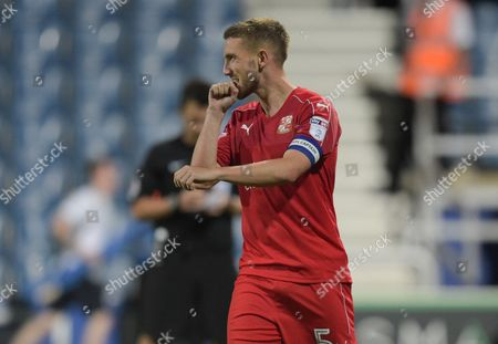 Anton Rodgers of Swindon Town eacts after missing his penalty during the EFL Cup First Round match between QPR and Swindon Town played at Loftus Road, London on 10th August 2016