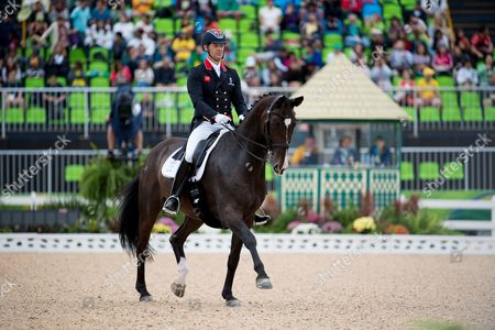 Spencer Wilton (GBR) & Supernova II - Dressage ? Grand Prix (1st Team & Individual Qualifier) ? Rio 2016 Olympic Games ? Deodoro, Rio de Janeiro, Brazil ? 10 August 2016