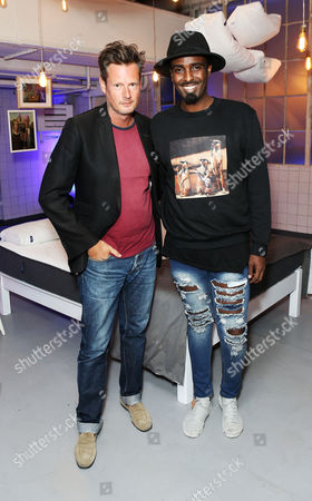 Percy Parker and Mason Smilie celebrated the UK launch of Cult US Sleep Innovators, Casper at The Vinyl Factory in Soho this evening.
