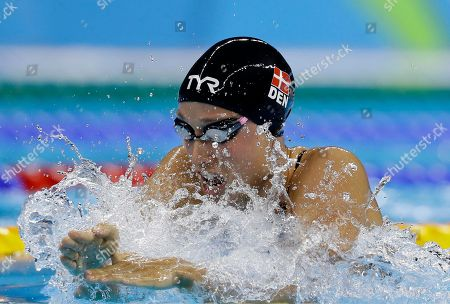 Denmark's Rikke Moller Pedersen swims in the women's 200-meter breaststroke semifinal during the swimming competitions at the 2016 Summer Olympics, in Rio de Janeiro, Brazil