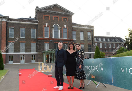 Stock Image of Damien Timmer, Daisy Goodwin and Jenna Coleman