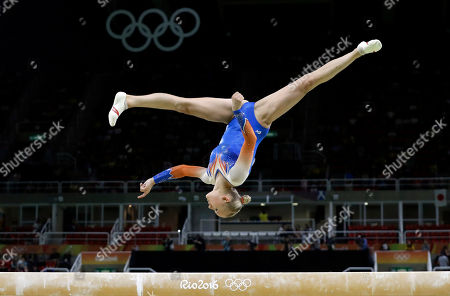 Netherlands' Lieke Wevers performs on the balance beam during the artistic gymnastics women's individual all-around final at the 2016 Summer Olympics in Rio de Janeiro, Brazil