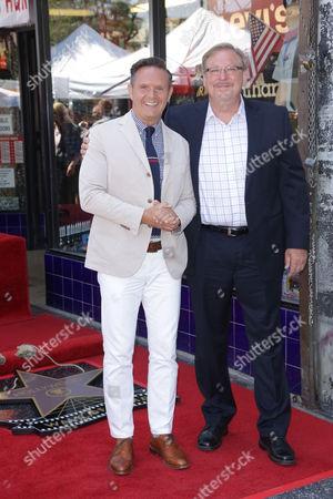 Stock Image of Mark Burnett, Rick Warren