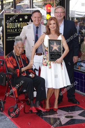 Mark Burnett, Roma Downey, Della Reese and Rick Warren