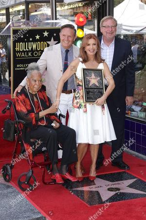 Stock Photo of Mark Burnett, Roma Downey, Della Reese and Rick Warren