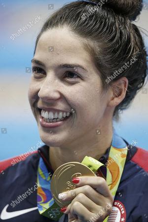 Editorial picture of Rio 2016 Olympic Games, Swimming, Olympic Aquatics Stadium, Brazil - 12Aug 2016