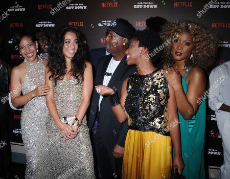 Cast members, Grandmaster Flash, Stefanee Martin, Yolonda Ross