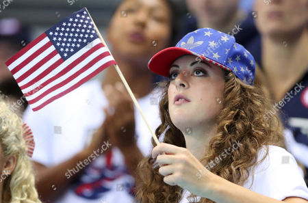 United States' Allison Schmitt watches the swimming competitions at the 2016 Summer Olympics, in Rio de Janeiro, Brazil