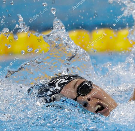 Denmark's Lotte Friis competes in a women's 800-meter freestyle heat during the swimming competitions at the 2016 Summer Olympics, in Rio de Janeiro, Brazil