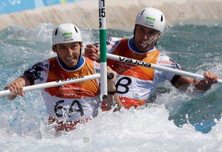 David Florence, Richard Hounslow David Florence, front, and Richard Hounslow of Britain paddle in the canoe double C2 men's canoe slalom at the 2016 Summer Olympics in Rio de Janeiro, Brazil
