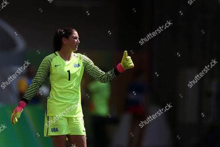 Hope Solo of United States during the match against Sweden at the Rio 2016 Olympic Games match at Mane Garrincha Stadium on august 12, 2016 in Brasilia, Brazil.
