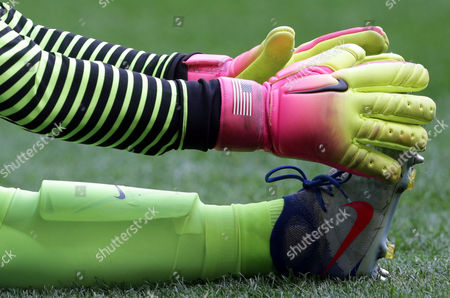 United States goalkeeper Hope Solo warms up before a quarter-final match of the women's Olympic football tournament in Brasilia . The United States were eliminated by Sweden after penalty shoot-out