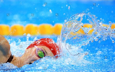 AUGUST 12:  Jazz Carlin wins Silver in the Women's 800m Freestyle Final on Day 7 of the Rio 2016 Olympic Games at the Olympic Aquatics Stadium on August 12, 2016 in Rio de Janerio, Brazil.  (Photo by Vaughn Ridley/SWpix.com)
