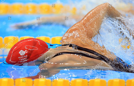 AUGUST 12:  Fran Halsall of Great Britain competes in the Women's 50m Freestyle Semifinals on Day 7 of the Rio 2016 Olympic Games at the Olympic Aquatics Stadium on August 12, 2016 in Rio de Janerio, Brazil.  (Photo by Vaughn Ridley/SWpix.com)