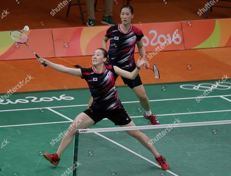 Lee So-hee, Chang Ye-na South Korea's Lee So-hee, left, and Chang Ye-na return a shot to China's Tang Yuanting and Yu Yang during a Women's Double match at the 2016 Summer Olympics in Rio de Janeiro, Brazil