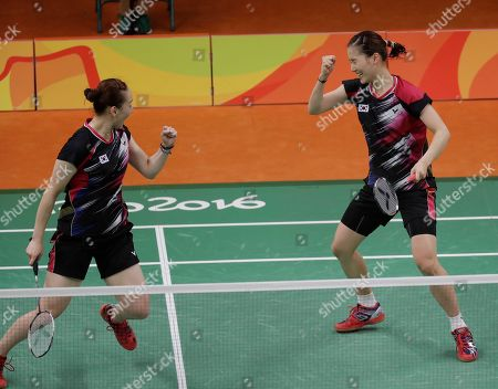 Lee So-hee, Chang Ye-na South Korea's Lee So-hee, left, and Chang Ye-na celebrate after beating China's Tang Yuanting and Yu Yang during a Women's Double match at the 2016 Summer Olympics in Rio de Janeiro, Brazil