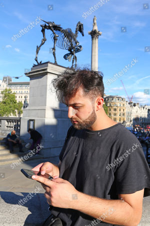 Editorial picture of Pokemon Go Gym Battle nets winner free food for a year, Trafalgar Square, London, UK - 13th August 2016