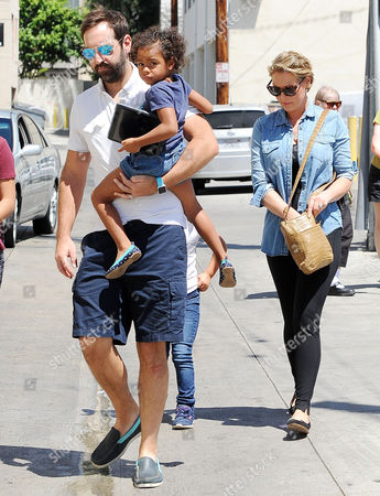 Stock Photo of Katherine Heigl, Josh Kelley, Naleigh Kelley, Adalaide Kelley
