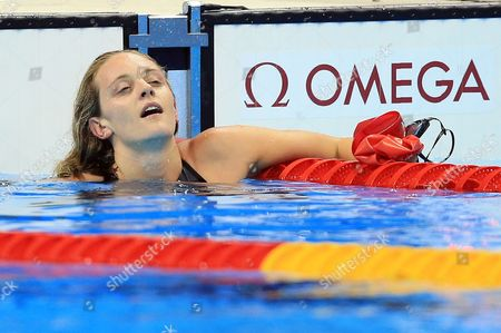 Fran Halsall of Great Britain competes in the Women's 50m Freestyle Final on Day 8 of the Rio 2016 Olympic Games at the Olympic Aquatics Stadium on August 13, 2016 in Rio de Janerio, Brazil.  (Photo by Vaughn Ridley/SWpix.com)